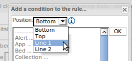 Patter/Action position selection
